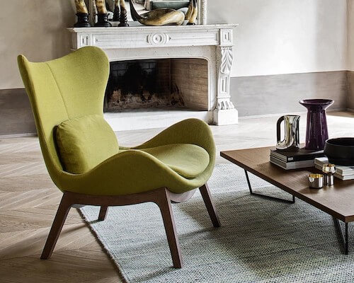 Calligaris Lazy Wood Armchair