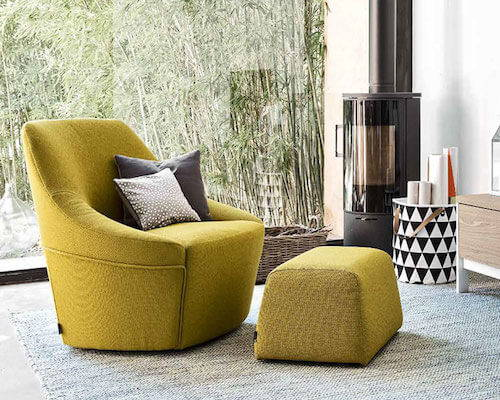 calligaris alma swivel lounge chair