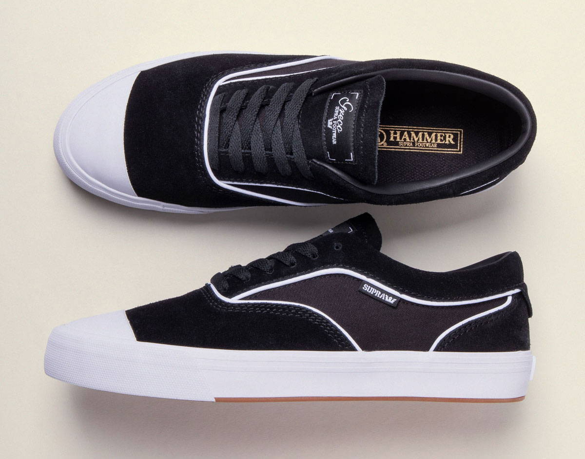 the latest 03aff cfaba Introducing the newest pro model from Supra Footwear and skate legend Jim  Greco - the Hammer VTG. Based on the slim and sophisticated shape of the ...