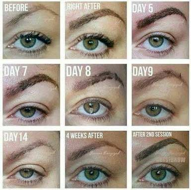 Eyebrow Tattoo Healing Process Pictures