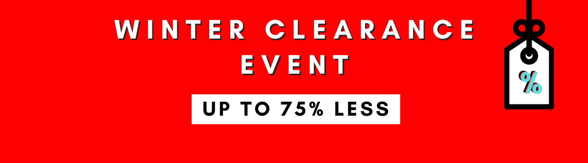 Up To 75% Less Winter Clearance Event