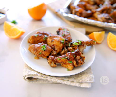 Sticky Orange BBQ Wings