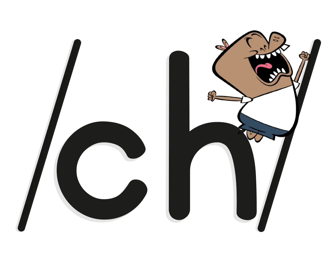 illustrated character on phoneme /ch/