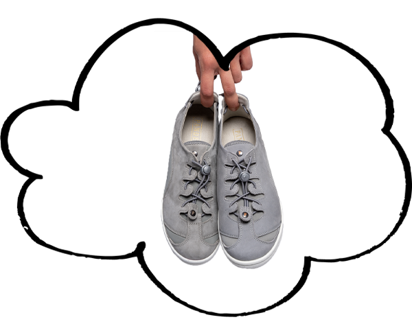 Grey Barista for swollen feet