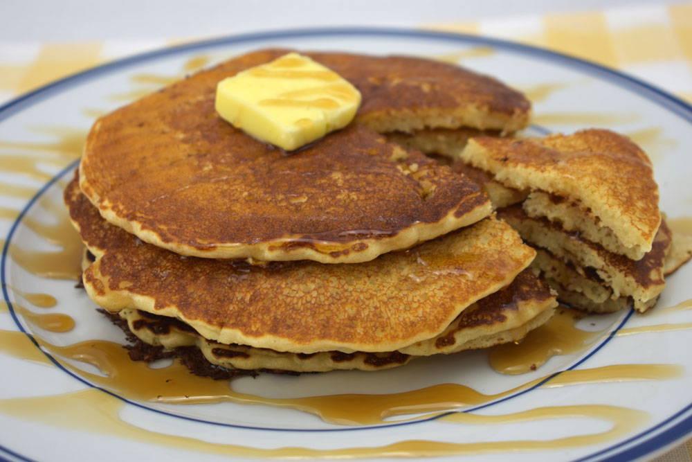Recipe to make Gluten-Free Pancakes using Bosquet Gluten-Free Buttermilk Pancake & Waffle  Mix