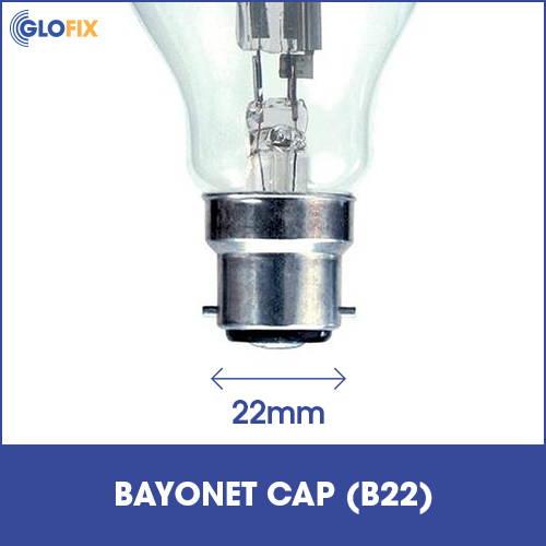 Bayonet cap B22 light fitting