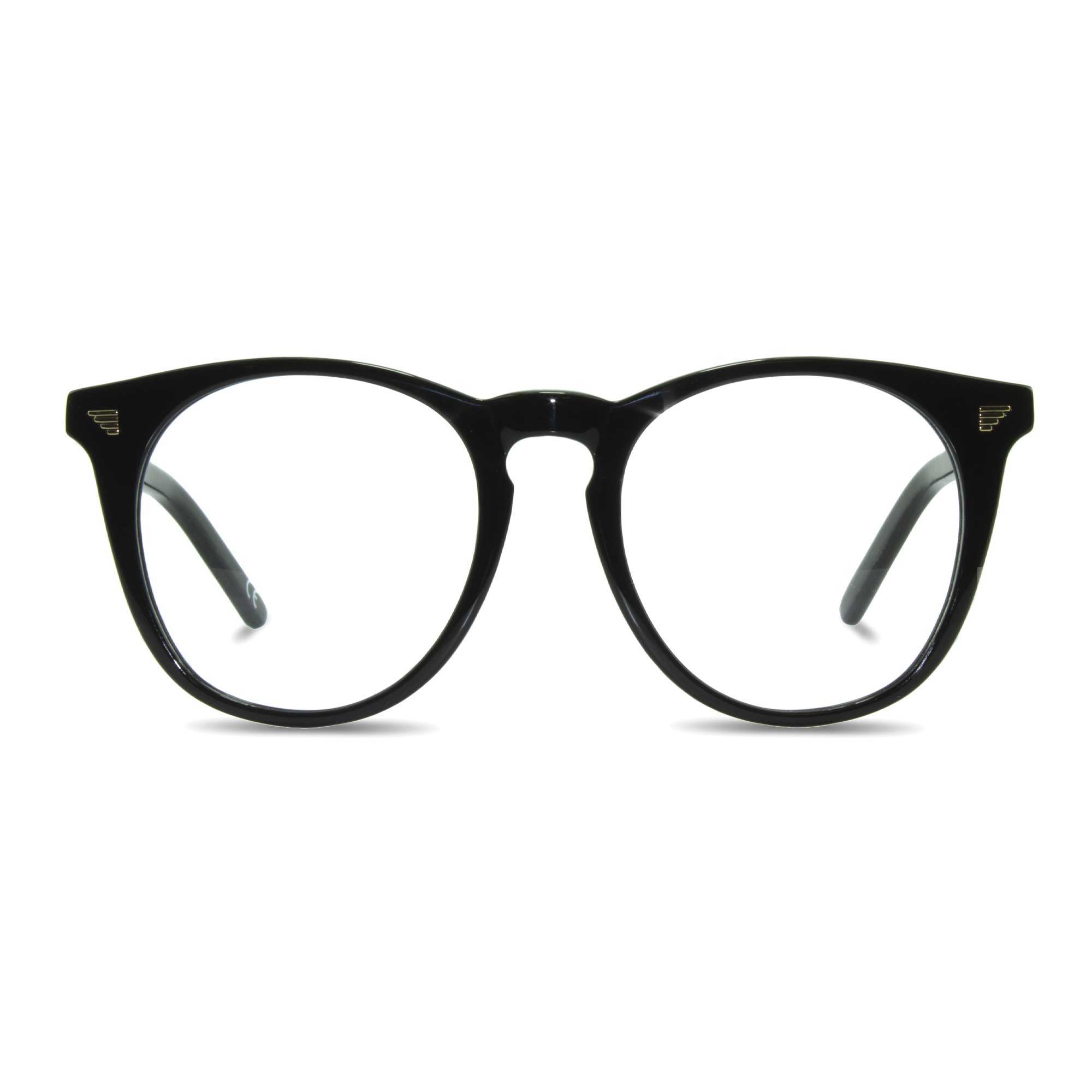 Joiuss deano black round glasses