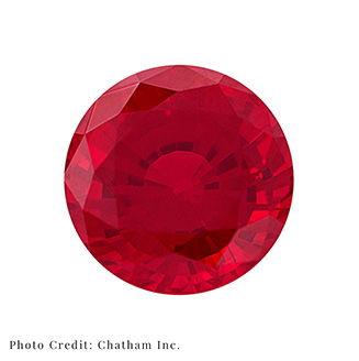 Polished Ruby Laboratory Grown Gemstone