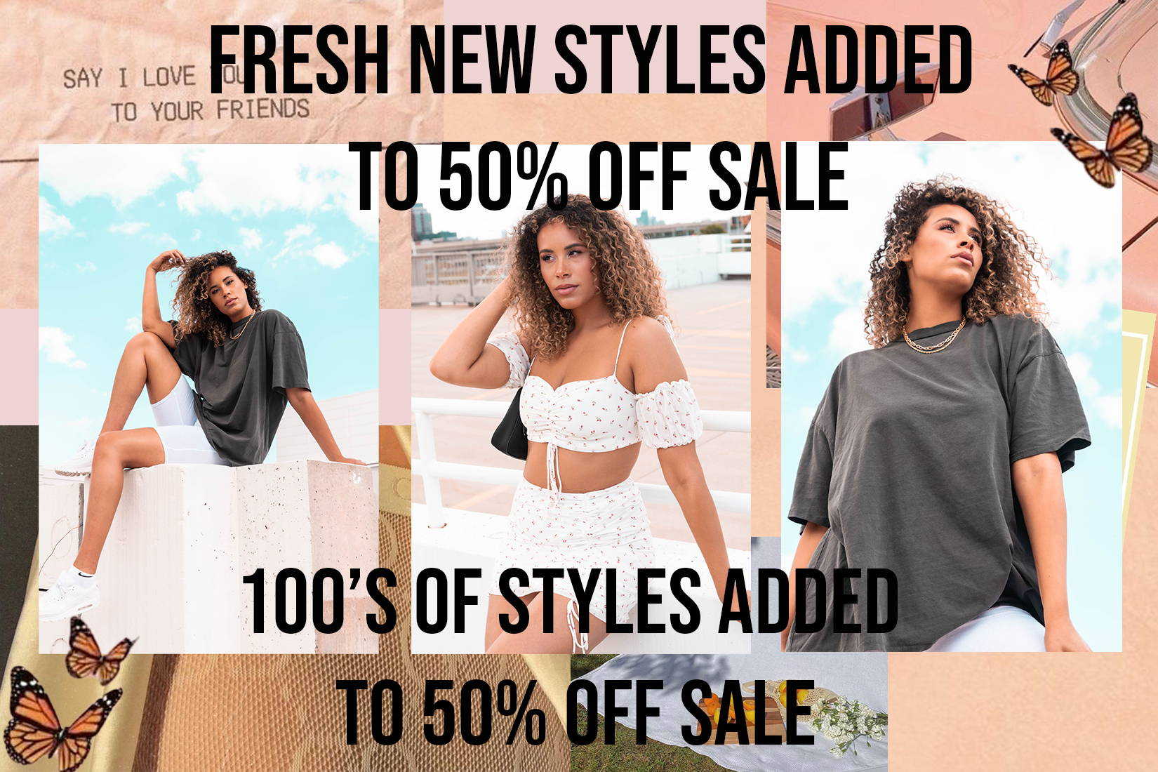 New styles added to 50% off sale