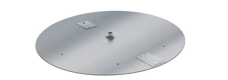 A burner pan setup