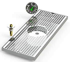Surface Mount Beer Tray with Glass Rinser