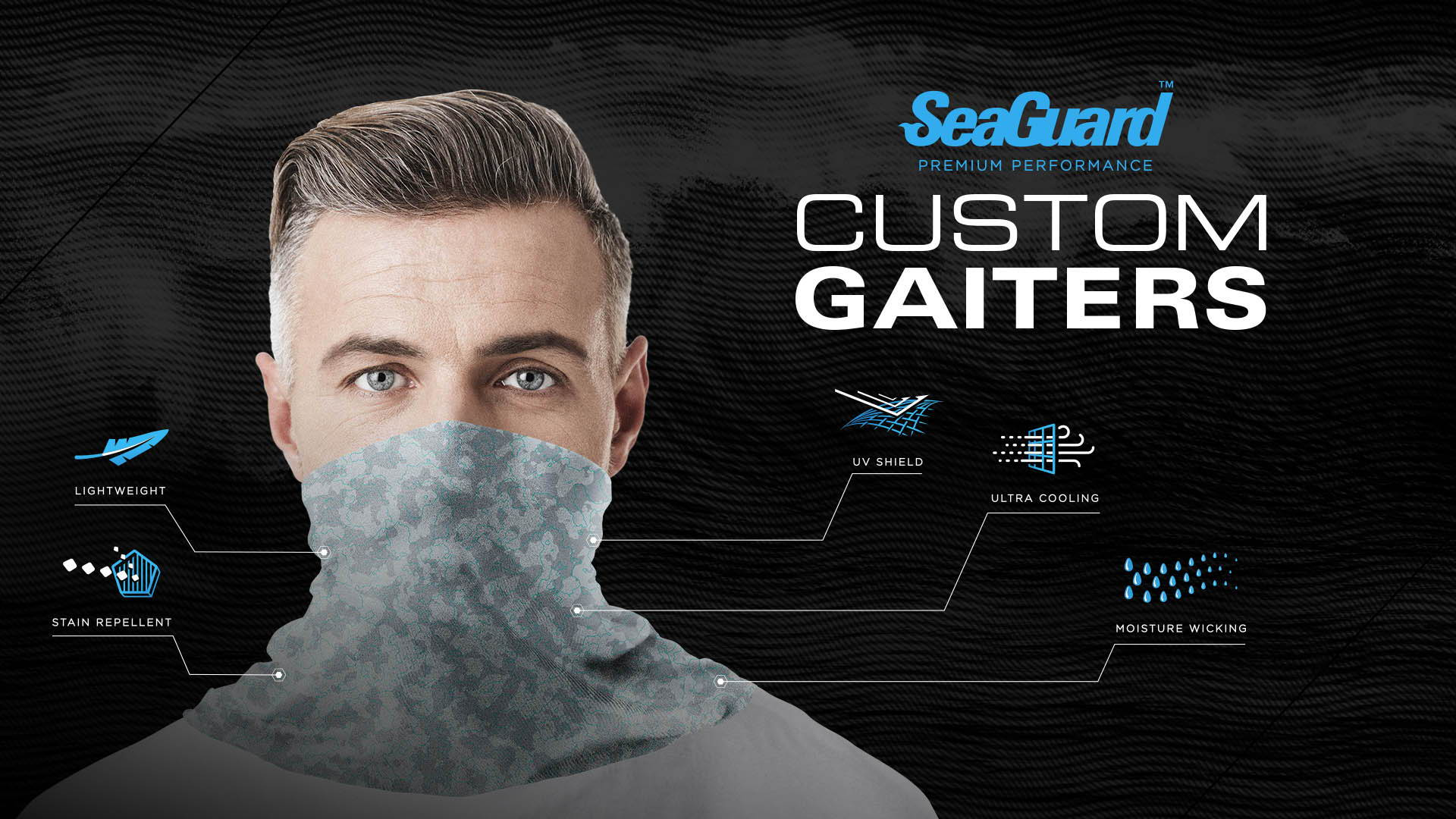 Briny SeaGuard Order your Custom Neck Gaiter with company logo- Fishing Apparel