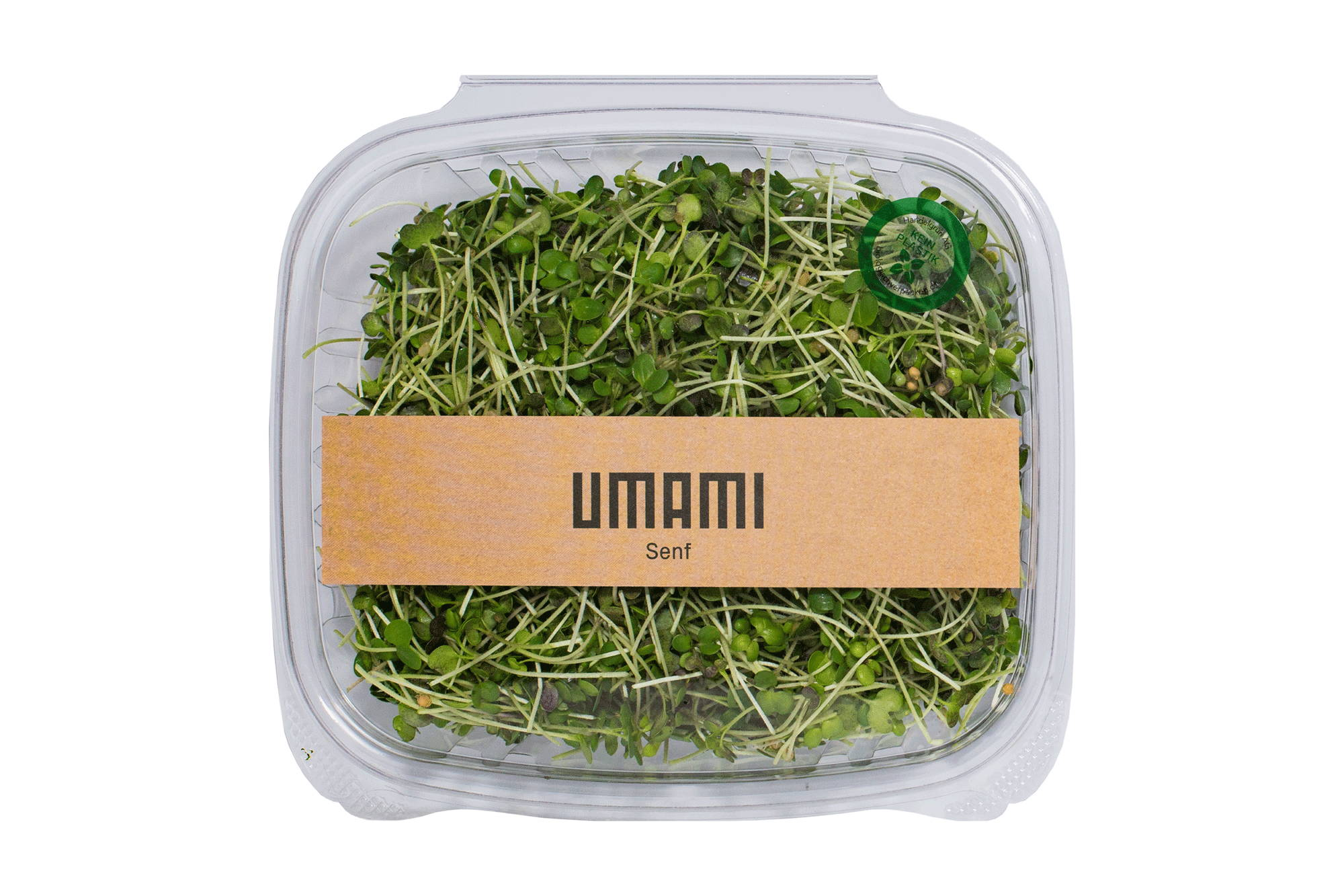 Spicy Mustard Umami Microgreens in PLA Pack