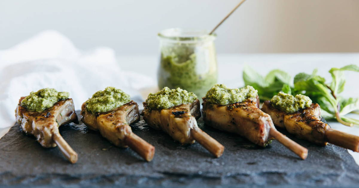 Keto Friendly Lamb Chops And Herb Butter