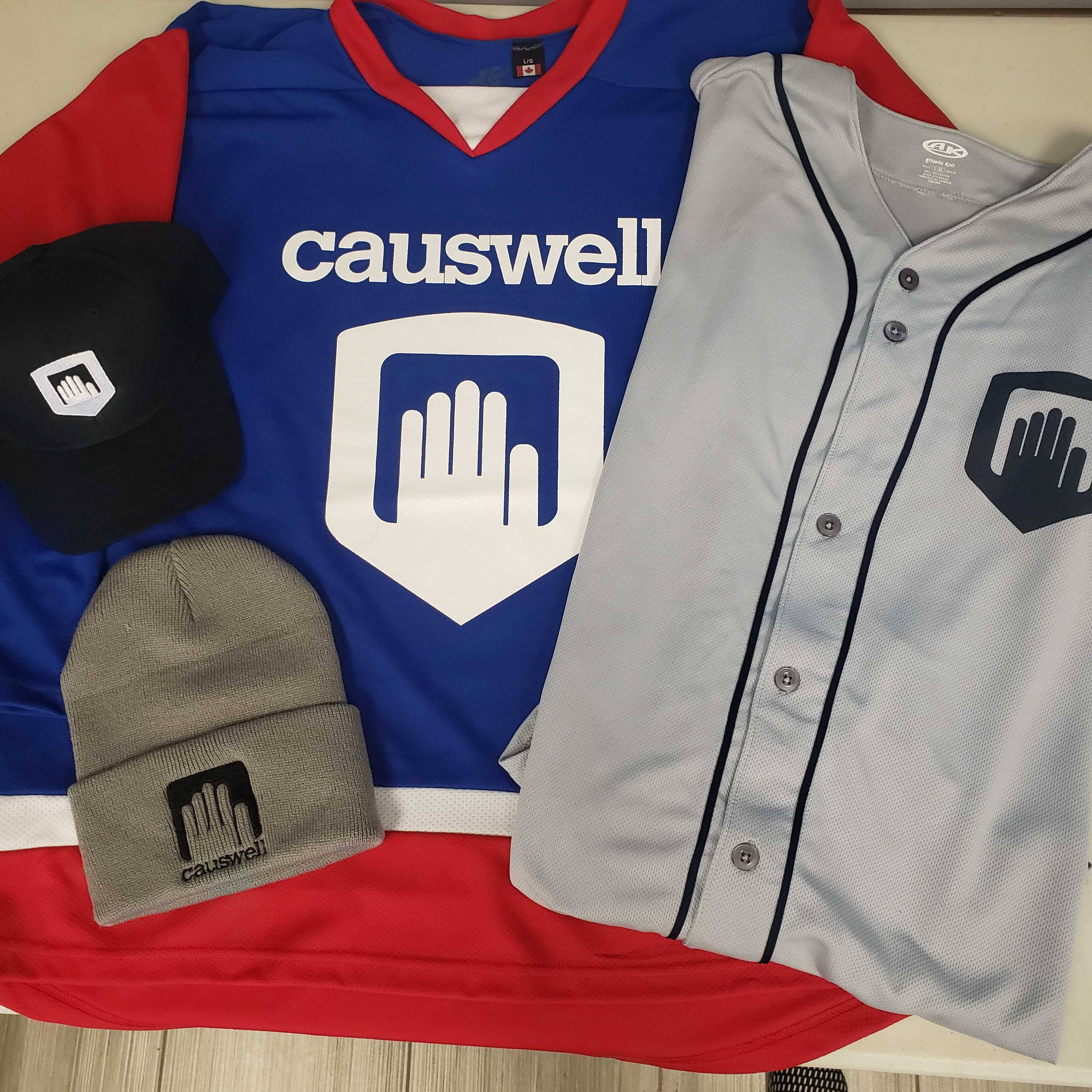 Example Custom Screen Printed and Embroidered Swag Items