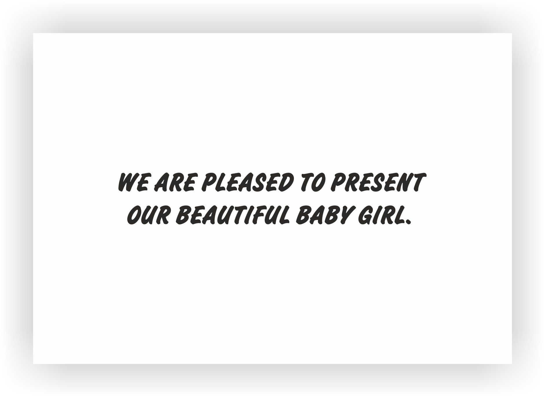 birth girl announcement message