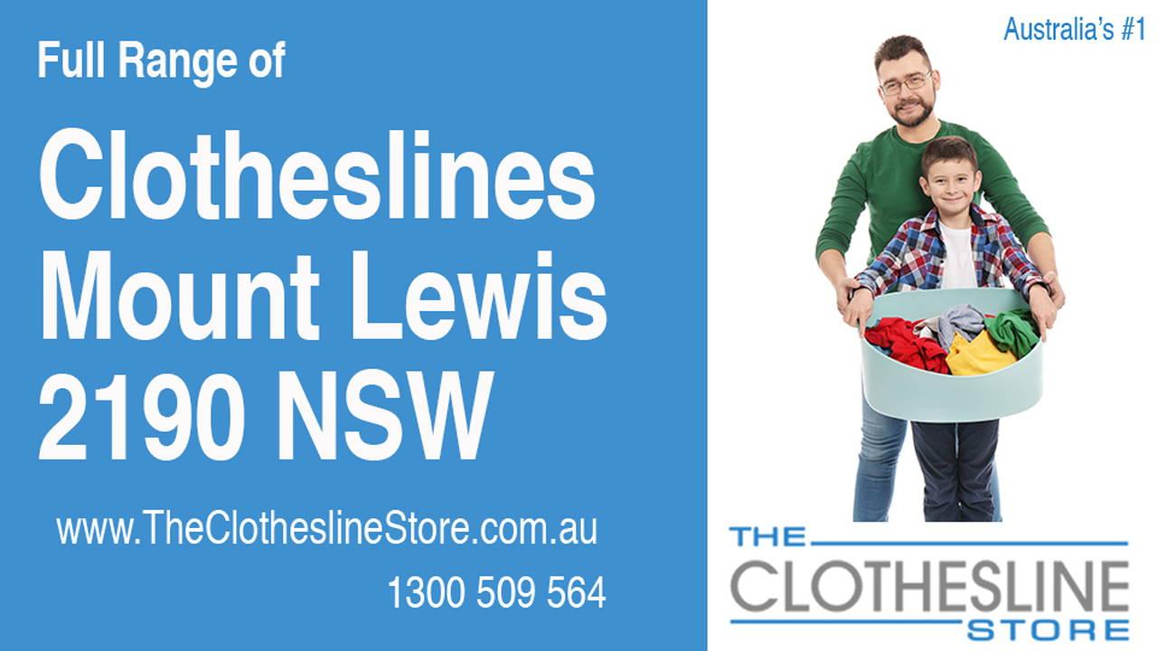 Clotheslines Mount Lewis 2190 NSW