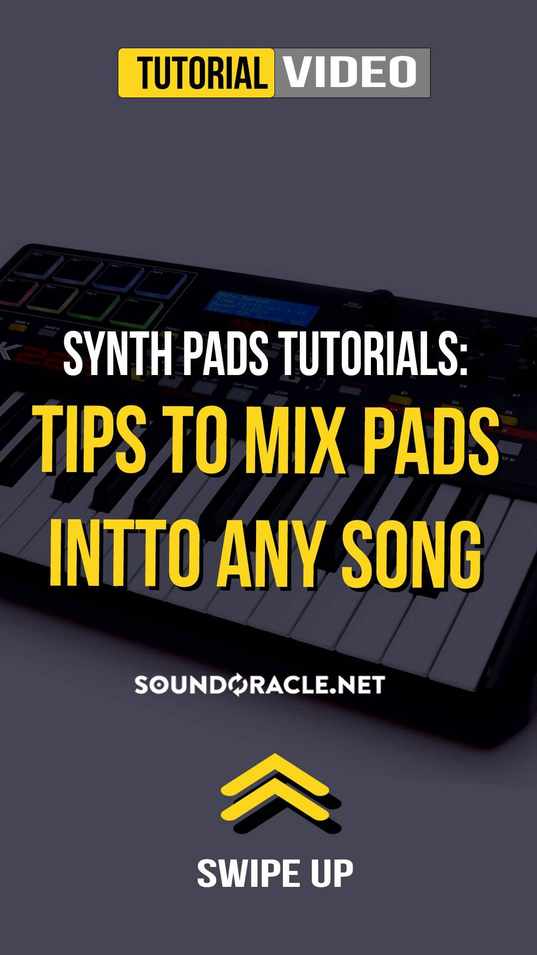 "Synth Pads Tutorials - Follow along as professional engineer Eric Michaels (@Realistic_Pro) gives you step-by-step guide on ""Tips to Mix Pads into any Song."" WATCH IT HERE!"