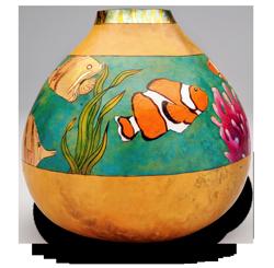 Coral Reef Gourd Art