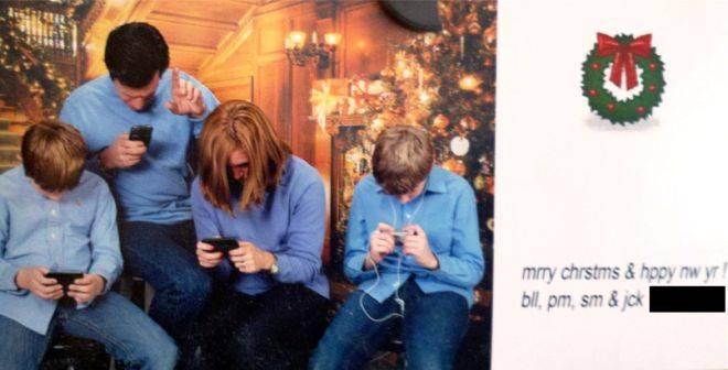 Texting Christmas Card