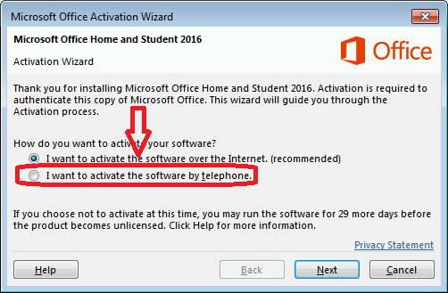 Microsoft Office activation Wizard - Phone activation - LicenceDeals.com
