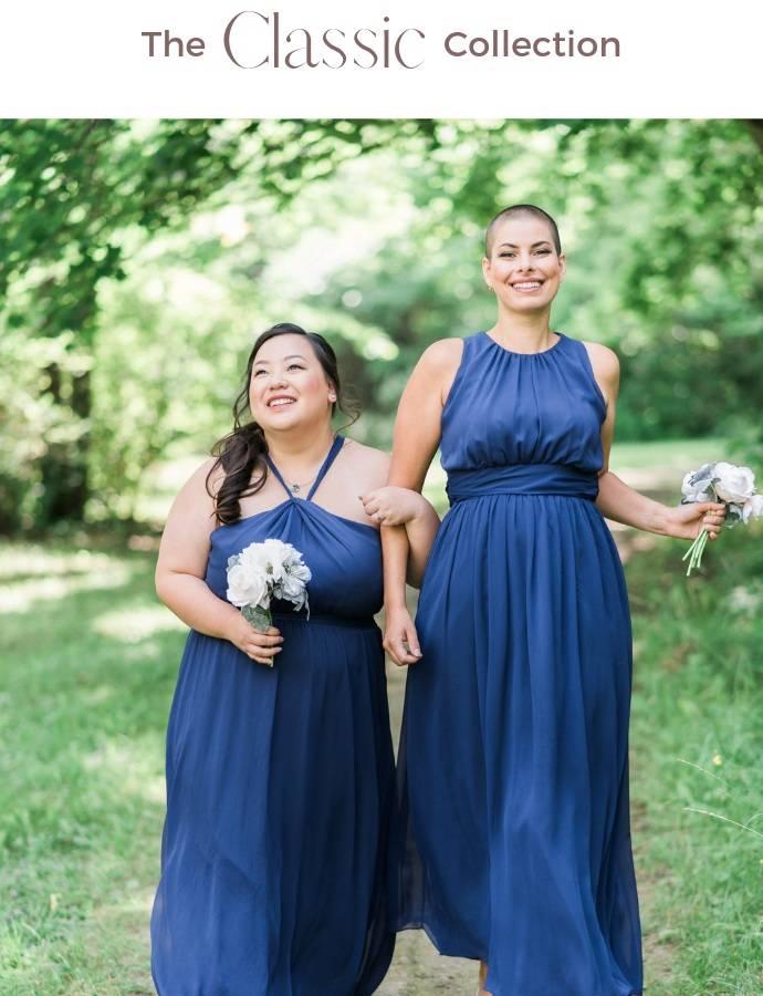blue bridesmaid dresses canada
