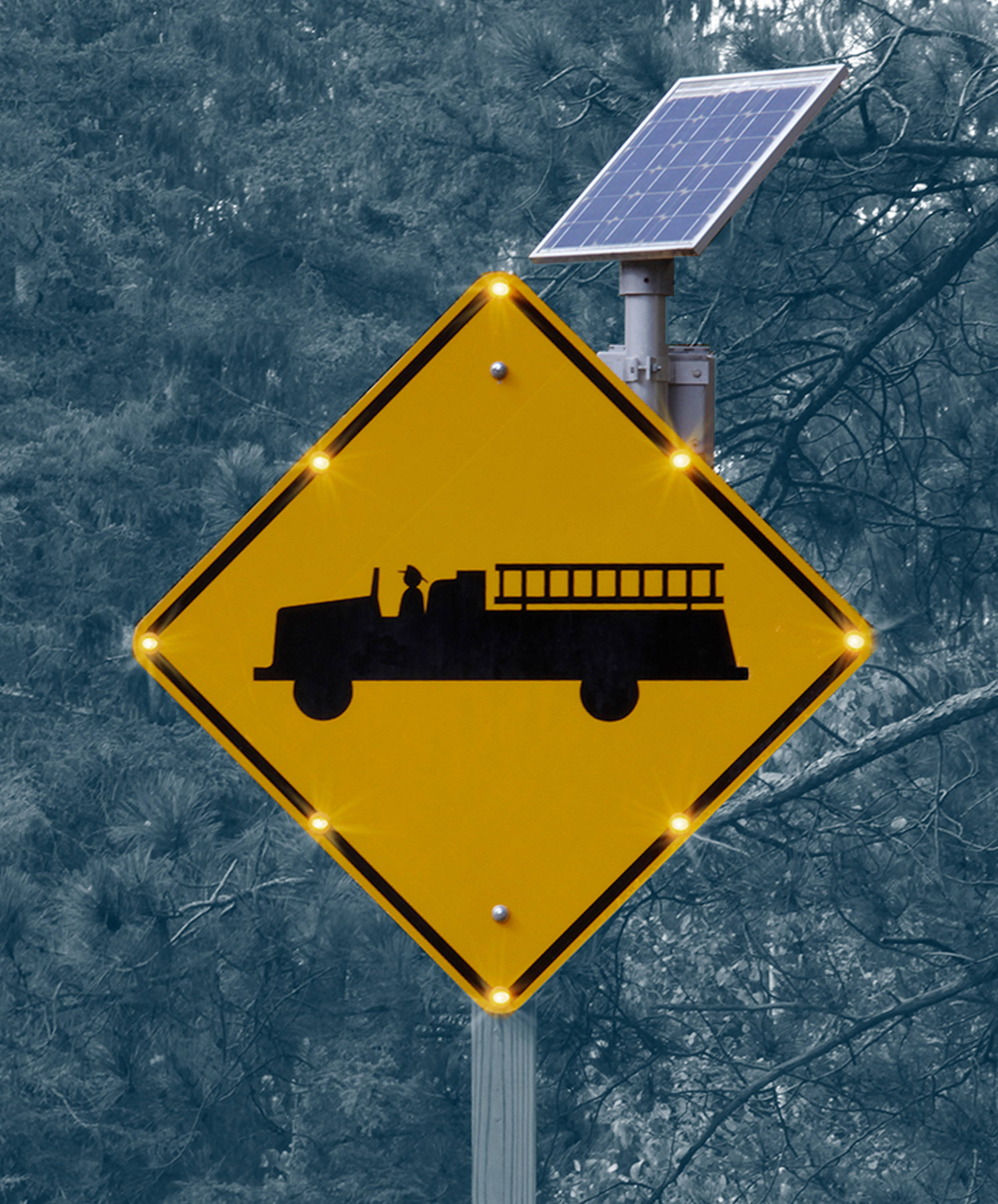 BlinkerSign-Flashing-LED-Sign-gives-advanced-warning-drivers-approaching-exit-and-entry-points