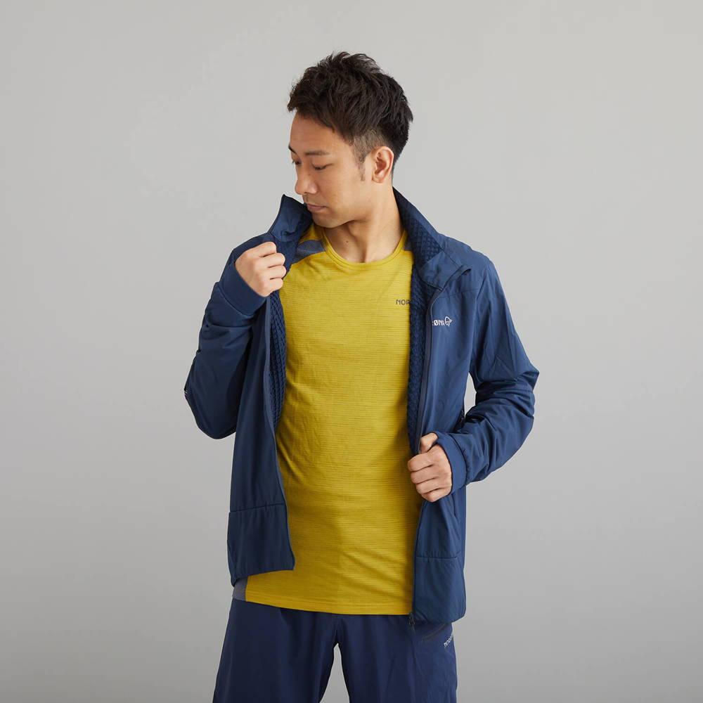 NORRONA(ノローナ)/ビティホーン ウールTシャツ/イエロー/MENS