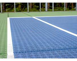 dalles de sol Tennis Vert et Bleu