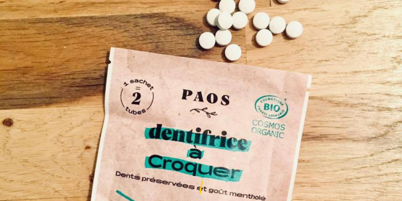 Le dentifrice à croquer - Paos