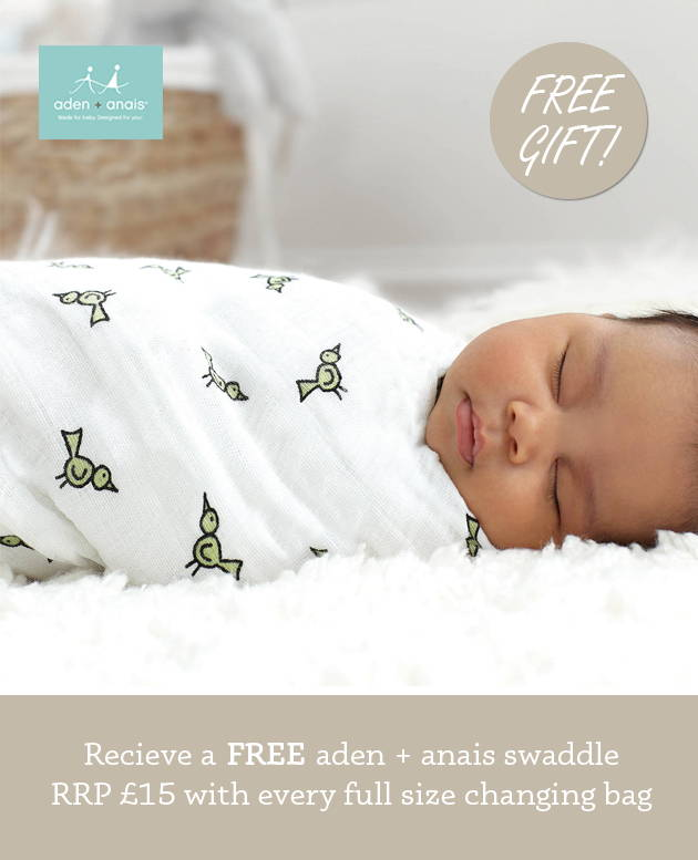 Changing Bags with free aden + anais swaddle