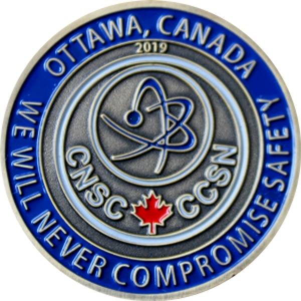 Corporate Challenge Coin for CNSC