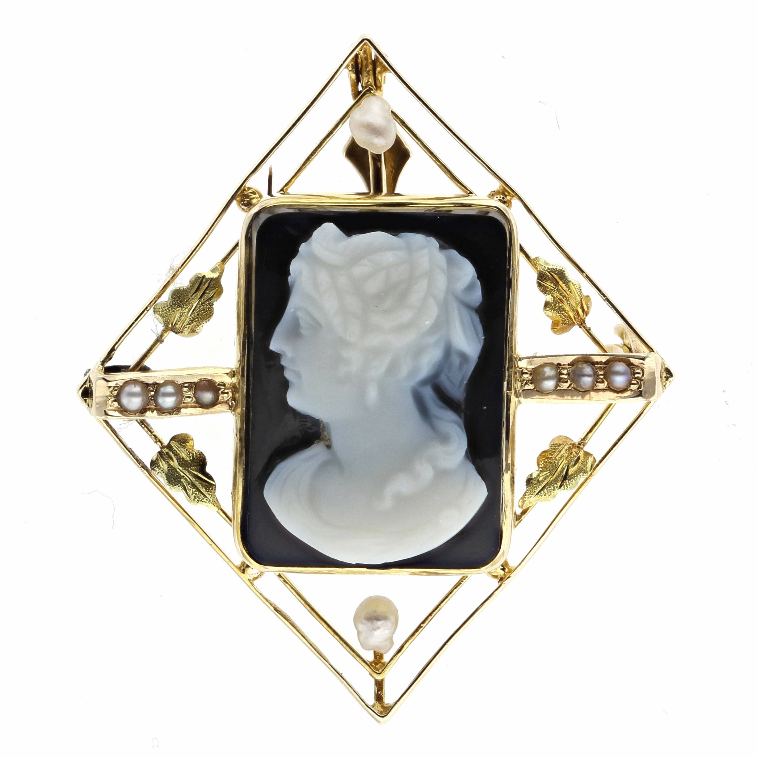 Estate Antique Cameo Pin