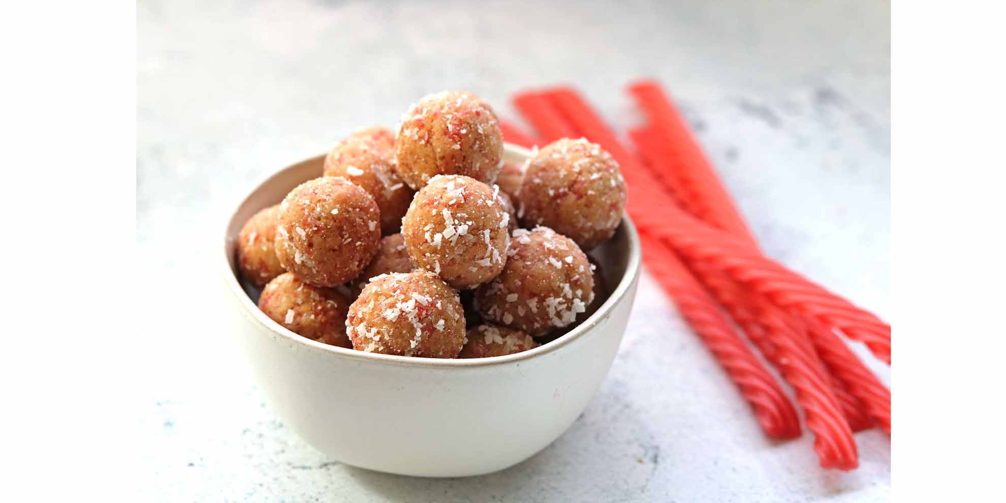 Coconut Berry Bliss Bites with Red Vines Made Simple candy