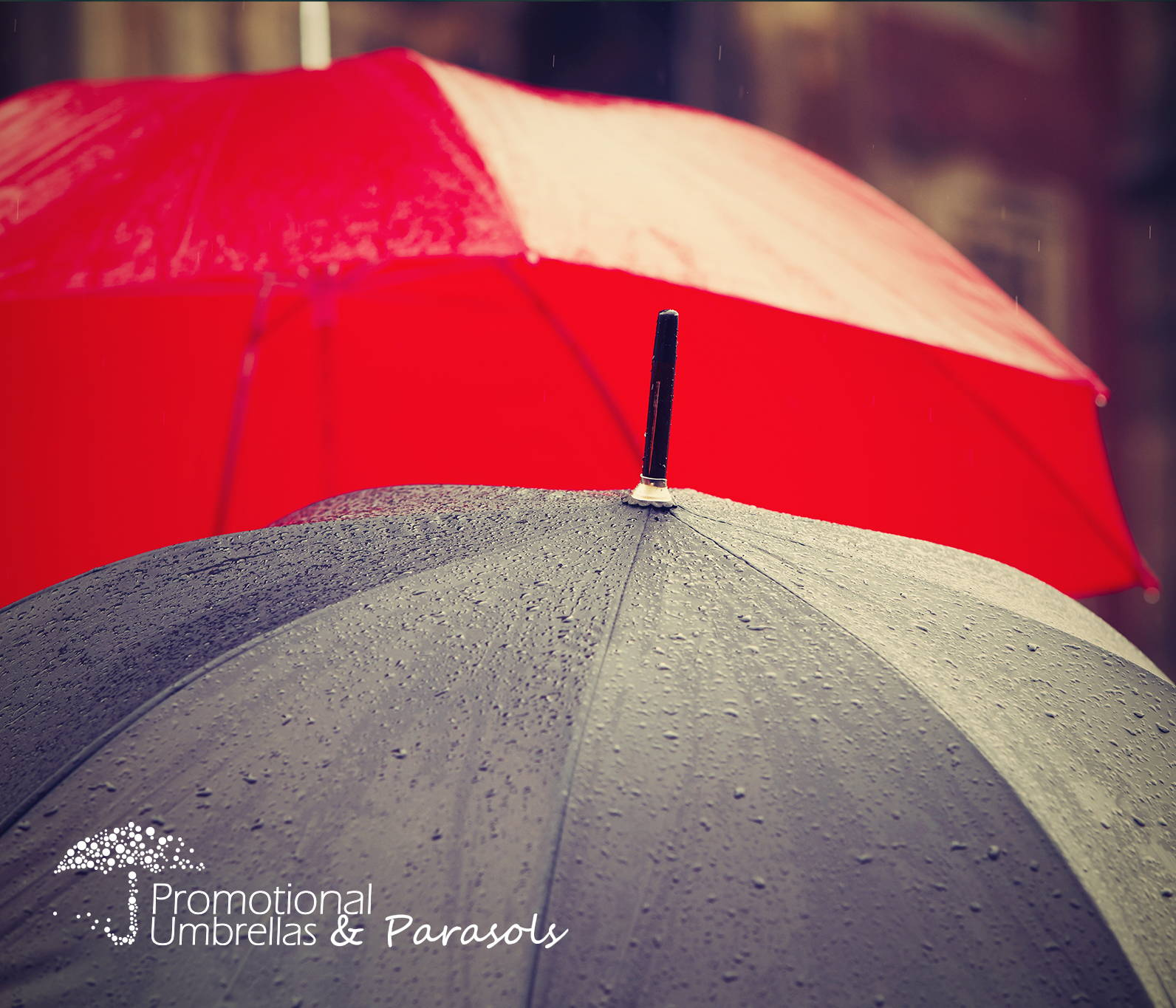 Eye catching traditional branded umbrellas