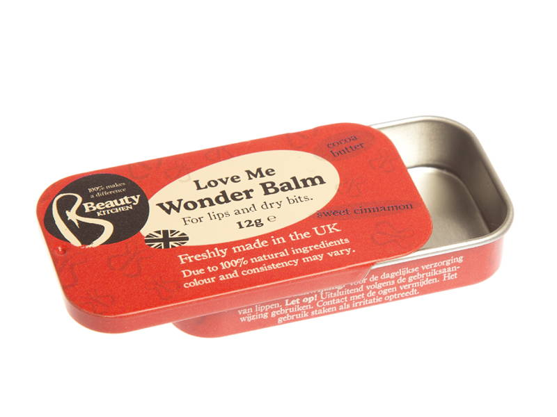 A sliding lid tin for lip balm