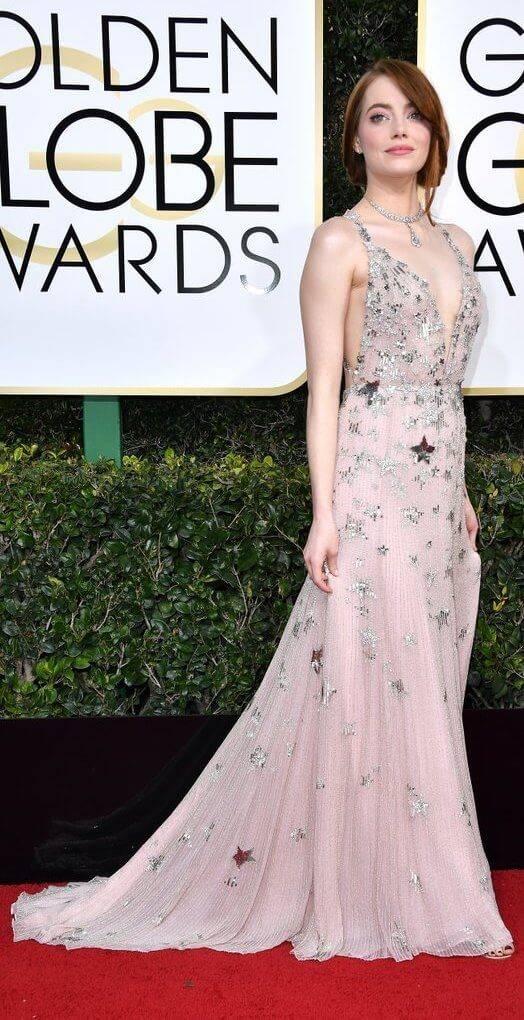 Emma Stone Stars Valentino Gown