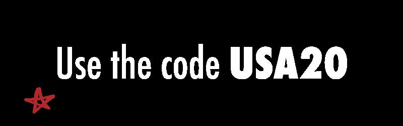 use the code USA20
