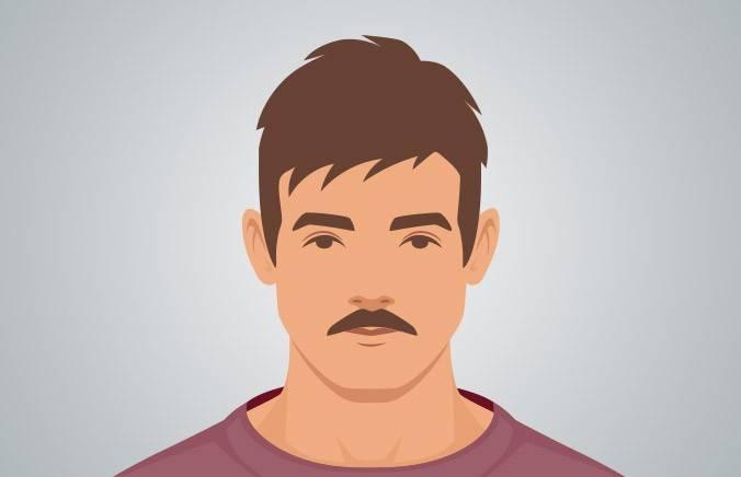 CHEVRON - A mustache that covers your entire top lip