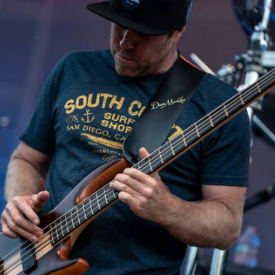 Kyle McDonald of Slightly Stoopid recycled guitar string bracelets and jewelry
