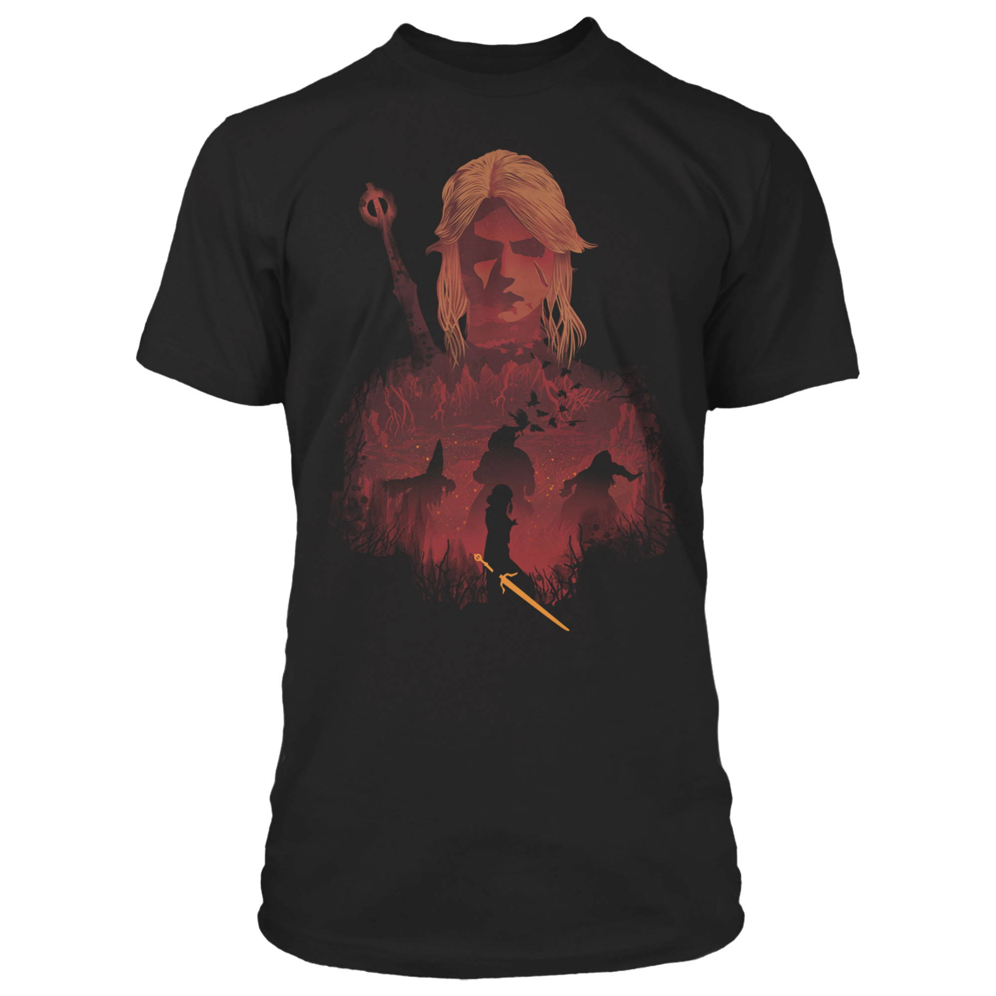 Product image of the The Witcher 3 Ciri and Crones Premium Tee