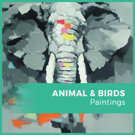 Birds, Animals And fishes paintings