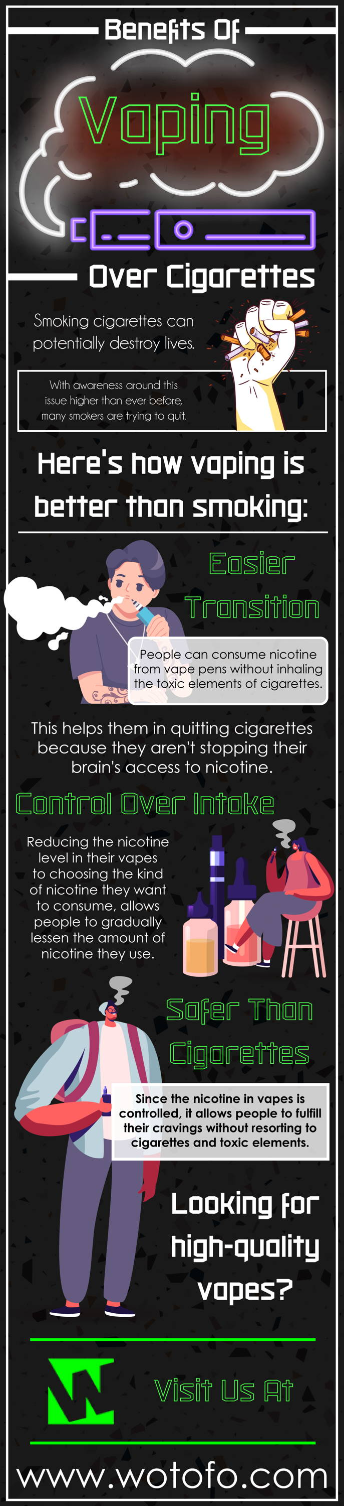 benefits of vaping over cigarettes