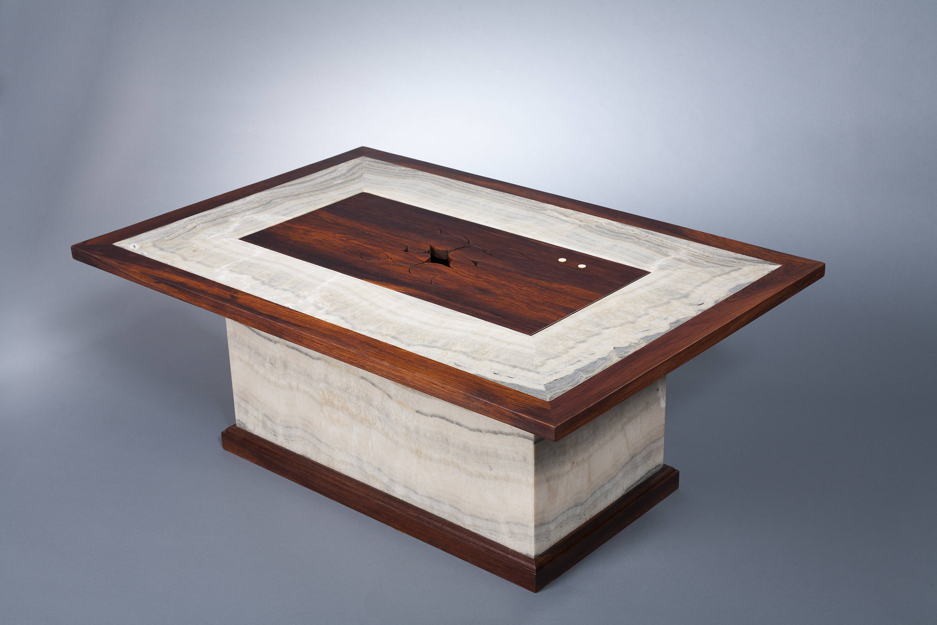 12-key wooden tongue drum coffee table