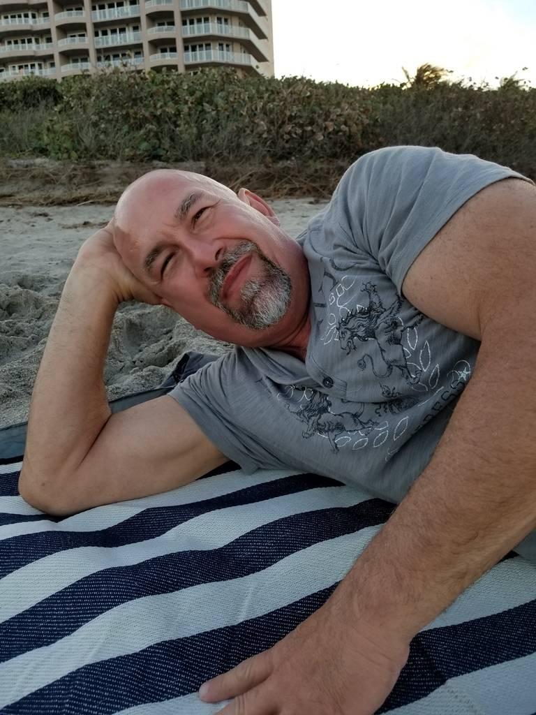 Bill on Juno Beach, jupiter Fl