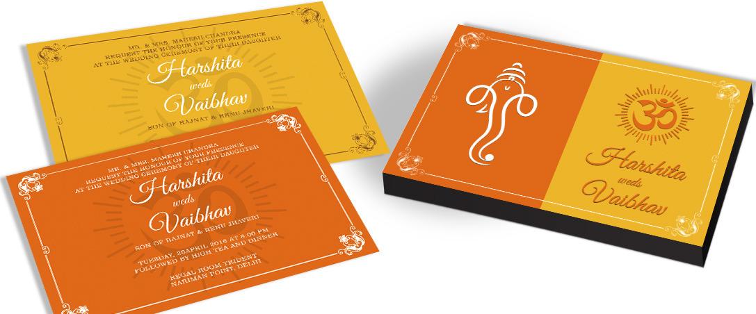 Modern Wedding Invitation card for Hindu