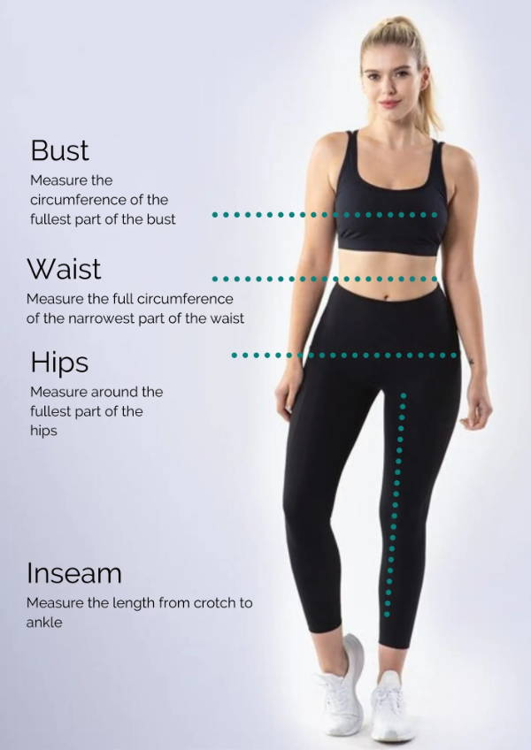 How to measure your body for size charts