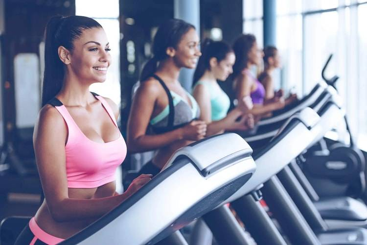 female athletes at the gym