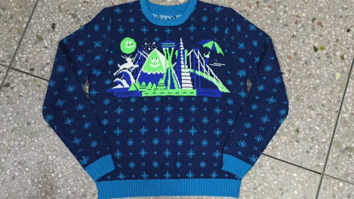 Alaska Airlines Custom Christmas Sweater