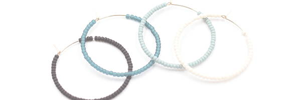 hoop earrings in assorted colors